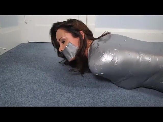 Black Girl Tape Bondage