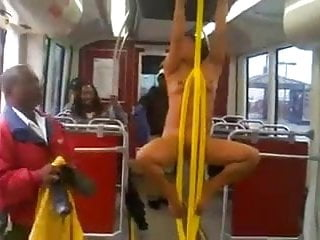 Naked woman spur marked e - Naked woman on train screaming racial slurs