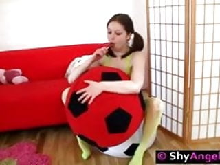 Teeny girls fuck Playful teeny enjoys dildo and lollypop fuck