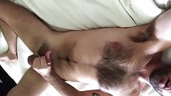 Hairy sexy dad big big load
