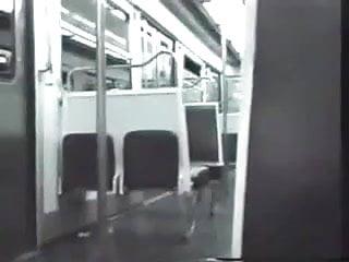Public subway sex - Ebony subway flashing and blowjob