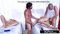 Oil massage and deeply fucking the sexy body