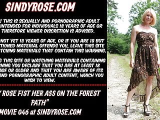 Ive walked the path of pleasure Sindy rose fist her ass on the forest path