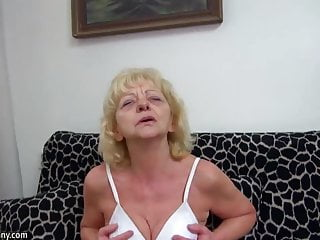Strap-on mature fuck porno - Hot young guy fucking very nice granny with strap-on