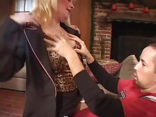 Hq clean xxx tgp Blonde milf in stocking fucks on sofa hq