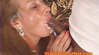 Granny is a three hole SLUT for CUM