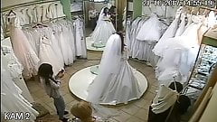 spy camera in the salon of wedding dresses 5 (sorry no sound