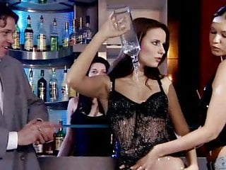 Sex in custom Hot bitches ladies fucking in the bar horny customers men