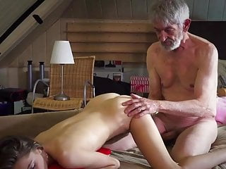 Old pervert sex Young pretty take cum from old pervert