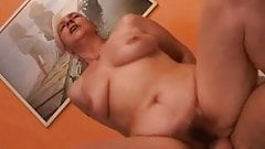Granny gives a sex lesson to her young lover