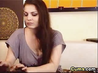 Uncle cums in nieces pussy Gorgeous busty brunette babe touching her pussy