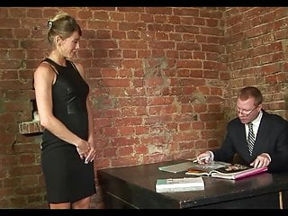 Strip humiliation - Secretary stripped and spanked in the office by strict boss