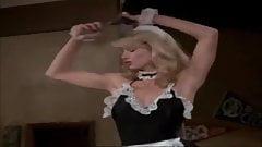 Playboy Playmate Karen Witter arrives at bachelor party