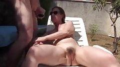 Amateur Couple in the Garden