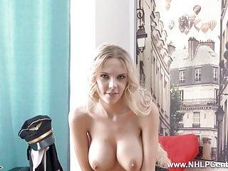 Pilot sexy Hot big tits blonde airline pilot masturbates in pantyhose