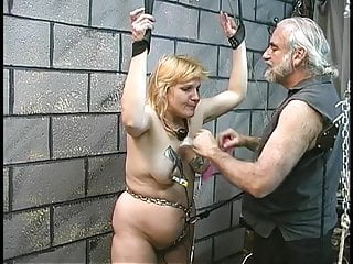 Fuck gag her mouth throat Fat bondaged blonde gets her mouth gagged and her floppy tits clamped