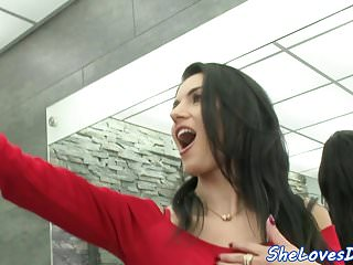 Huge tit threesome video Dp babe loves huge cocks inside her holes