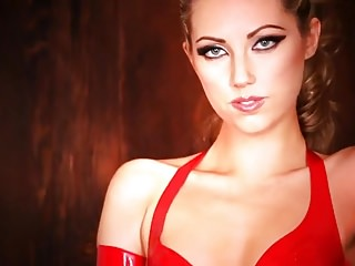 Hot girl in latex - Hot blonde in latex talks dirty while masturbating