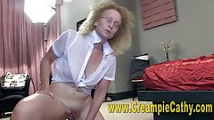 HORNY OLD WOMAN FUCKS A BLACK COCK