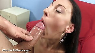 Tongue piercing blowjob