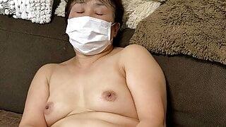 Japanese Granny masturbating