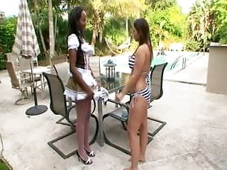 Interracial sex black white Lexi lockhart in black, white and tight lesbians