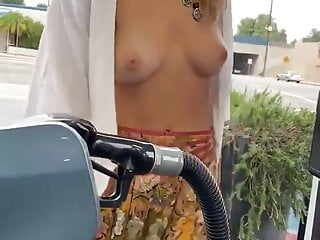 Make boobs stop growing Stopping for gas with boobs out