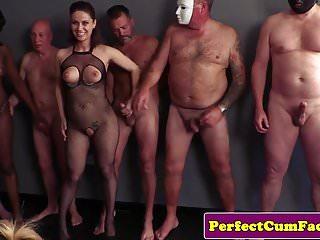 Arab covered face free gallery sex woman British skank face covered in bukkakke cum