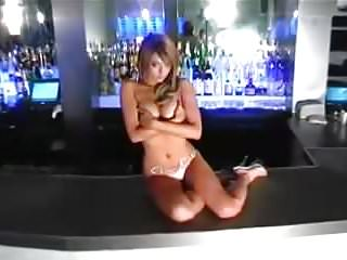 Naked picture of leah remini Leah dizon naked on bar table with no bra
