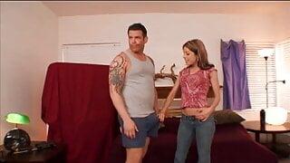 Slut loves hardcore ass fucking after sucks her man's cock