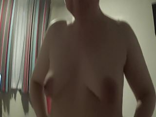 Cum splashed on my tummy - A belly full of glass stones - over 100 rattling in my tummy