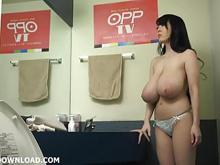 Guys licking boob - Giant tits asian licking her huge boobs
