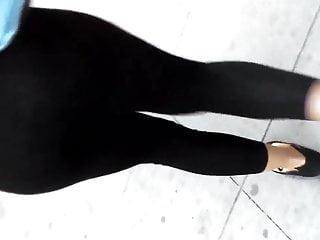Amateur undies See thru yoga pants. undies.