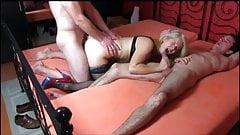German MILF anal threesome