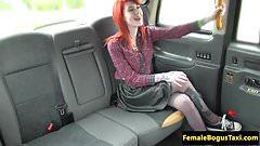 Stockinged taxi lesbian pussylicking lesbian