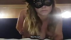 Wife asking for other guy while she gets fucked (with text)