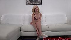 Blonde babe Haley Reed seduced by monster BBC doggystyle