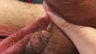 Milking the precum from my dick