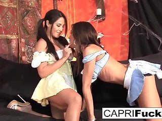 Fuck jenaveve Capri cavanni and jenaveve jolie decide its more fun to fuck