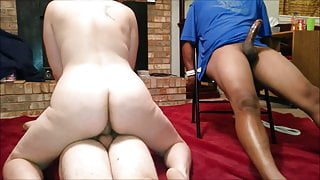 Wife fucks with husband and friend