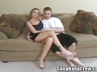 College girls gang bang - Hot young swinger wife getting gang banged