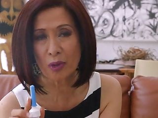 Asian bleeding 70 yo asian granny takes anal