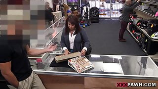 MILF sells her husband's stuff for bail $$$ - XXX Pawn