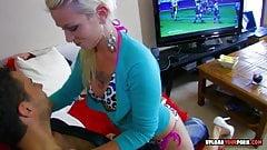 Kinky tattooed blonde gets her asshole fucked
