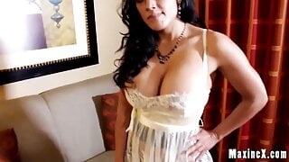 Hooded Cougar Maxine X Gets A Huge Dick In Her Wet Pussy!