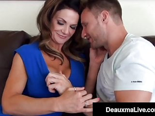 Riding hard big dick - Cock milking mommy deauxma rides young guys hard dick