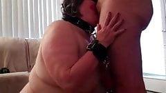 BBW Pet submissive blowjob