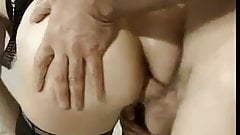 granny ass fucked hardby two cock