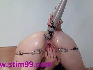 Anal fucking masturbation sex - Anal fucking bat insertion