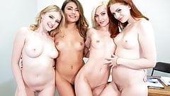 Lesbian Teens Having Orgy